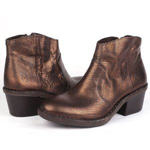 Fly London Bronze Dari Leather Ankle Boot Sz 7